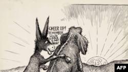 驴对象说:你失我得(历史漫画 Clifford K Berryman)。