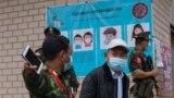 မိုင္ဂ်ာယန္ နယ္ေျမ COVID-19 ကာကြယ္ေရးလုပ္ငန္းေတြကို စစ္ေဆးေနတဲ့ ျမင္ကြင္း။ (ဓာတ္ပံု - The Kachin Net၊ Kachin News Group - ဧၿပီလ ၂၅၊ ၂၀၂၀)