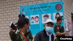 မိုင္ဂ်ာယန္ နယ္ေျမ COVID-19 ကာကြယ္ေရးလုပ္ငန္းေတြကို KIA က စစ္ေဆးေနတဲ့ ျမင္ကြင္း။ (ဓာတ္ပံု - The Kachin Net၊ Kachin News Group - ဧၿပီလ ၂၅၊ ၂၀၂၀)