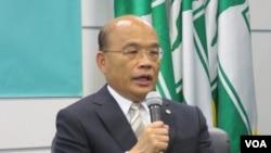 台湾民进党主席 苏贞昌(美国之音张永泰拍摄)