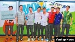 올해 홍콩에서 열린 국제수학올림피아드에 참가한 북한 대표팀.