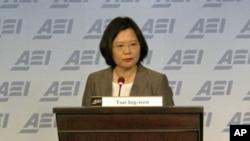 台灣民進党主席蔡英文在美國提出网絡國安考量