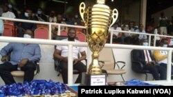 Coupe du Congo: le trophée lors de la finale de la 56e édition, à Kinshasa, le 30 juin 2021.