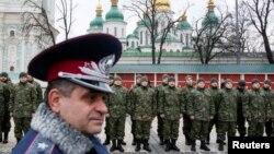 Tiểu đoàn mới thành lậpSaint Maria của Bộ nội vụ Ukraine làm lễ trước khi tham gia khóa huấn luyện quân sự, 3/2/15