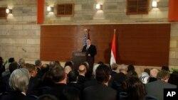 Le chef de la diplomatie américaine Mike Pompeo au Caire le 10 janvier 2019.