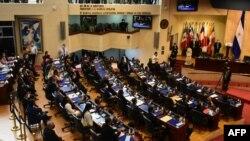 La Asamblea Legislativa de El Salvador aprobó la ley que facilita el voto de los salvadoreños en el exterior con votación de 77 a 1 con 5 abstenciones.
