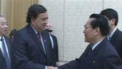 بیل ریچاردسون فرماندار نیو مکزیکو در سفر غیر رسمی به پیونگ یانگ برای کاهش تنش در شبه جزیره کره با مقامات کره شمالی دیدار و گفتگو کرد