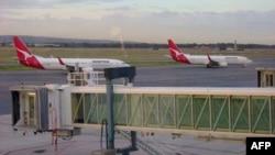 Máy bay của hãng Qantas tại sân bay quốc tế Adelaide