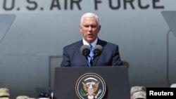 美国副总统彭斯在佐治亚州与美国军队会面时讲话(2017年8月1日)