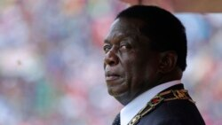 FILE: Zimbabwe's President Emmerson Mnangagwa prepares to inspect the guard of honour during the celebrations for the country's 38th anniversary of Independence at the National Sports Staduim in Harare, Wednesday, April, 18, 2018.