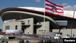 Le Wanda Metropolitano, nouveau stade de 68.000 places de l'Atletico Madrid, inauguré lors de la 4e journée du Championnat d'Espagne, en présence du roi d'Espagne Felipe VI, à Madrid, Espagne, 16 septembre 2017.