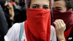 巴西里约热内卢的抗议者们不满政府为奥运会的投资。