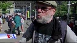 Biểu tình ở Bỉ chống NATO và Trump