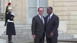 Le président de la Côte d'Ivoire rencontre Hollande à Paris (vidéo)