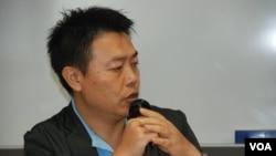 潘小濤表示,中共許下很多承諾往往沒有「找數」 (美國之音湯惠芸拍攝)