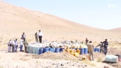 دهها تن مواد مخدر در هرات به آتش کشیده شد