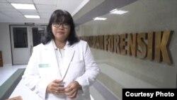 Dokter Lipur Riyantiningtyas dari Instalasi Kedokteran Forensik RSUP dr.Sardjito Yogyakarta. (Foto: Humas Sardjito)