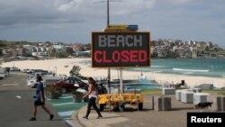 ឆ្នេរសមុទ្រ Bondi Beach បន្តបិទដើម្បីការពារការរាតត្បាតជំងឺកូវីដ១៩។