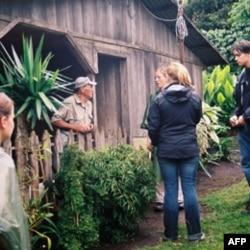 Volunteers work with coffee farmers through a University of Georgia program in Costa Rica