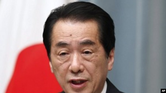 Japan's Prime Minister Naoto Kan speaks during a news conference at his official residence in Tokyo, April 12, 2011