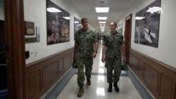 VOA英语视频: 美国海军两对将军父女携手报国传佳话
