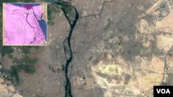 Peta Kairo, Mesir