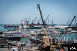 Bossaso port, the economic hub of northern Somalia, in late March 2018. (J. Patinkin/VOA)