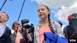致力於環保運動的瑞典青少年活動家格拉特·圖恩伯格