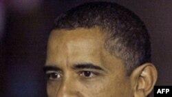 رییس جمهوری آمریکا می گوید دولت او در داخل و خارج پیشرفت می کند