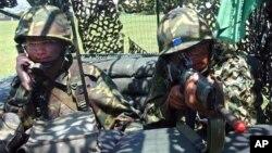 台灣軍隊士兵演練