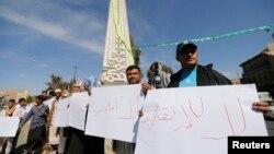 Người biểu tình Yemen cho rằng Tổng thống Abd-Rabbu Mansour Hadi không nên trốn bỏ trách nhiệm bằng việc từ chức.
