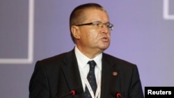 "FILE - ""It is a very probable scenario that there will not be an agreement before January 1 and the nonpreferential trade regime will be introduced,"" said Russian Economy Minister Alexei Ulyukayev, shown at a WTO Ministerial Conference in Bali, Indonesia, Dec. 4, 2013."