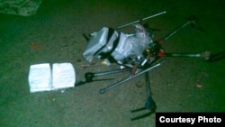 小型无人机载运毒品过重而坠毁现场(Tijuana Police photo)