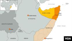 Peta Somalia.