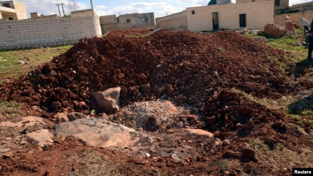 A general view shows what forces loyal to Syria's President Bashar al-Assad say is the site where chemical weapon attack occurred, March 23, 2013.