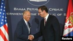 Izabrani predsednik SAD Džo Bajden u poseti Beogradu 2016.