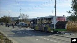 Oštećeni autobus nakon eksplozije koju je izazvala žena bombaš samoubica