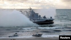 지난 2013년 9월 발트해 해상에서 러시아 군 등이 참가한 합동 군사훈련이 열렸다..