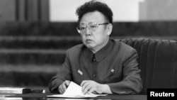 Late North Korean leader Kim Jong-il is pictured in this undated photo released by the North's KCNA, December 28, 2011.