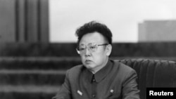 Cố lãnh tụ Bắc Triều Tiên Kim Jong-il (hình chụp ngày 28/12/2011)