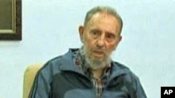 Fidel Castro on Cuban TV's Mesa Redonda program