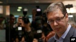 الکساندر ووچیچ نخست وزیر و رهبر حزب پیشرو