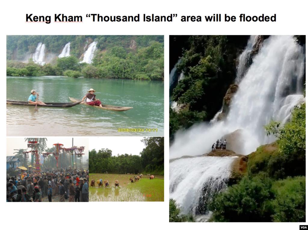 "The Keng Kham ""Thousand Island"" area."