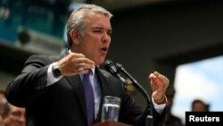 """El presidente de Colombia, Iván Duque, dijo que """"queremos una paz que garantice de manera genuina la Verdad, la Justicia, la Reparación y la No Repetición""""."""