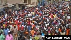 Manifestation à Lomé de l'opposition, 12 décembre 2014