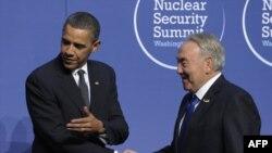 Барак Обама и Нурсултан Назарбаев