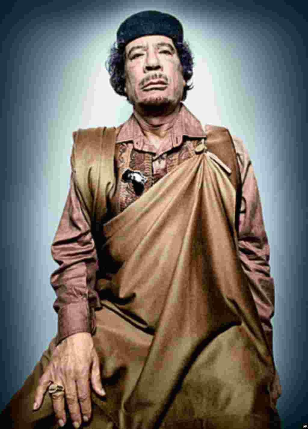 Libya's Muammar Qaddafi