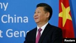Le président chinois Xi Jinping à Genève, en Suisse, le 18 janvier 2017.