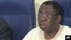 Le président de la CEDEAO, James Victor Gbeho, à Abuja (Archives)