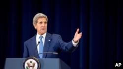 Američki državni sekretar Džon Keri predstavlja izveštaj Stejt departmenta o trgovini ljudima